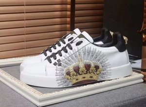 New men's and women's white leather with boys' low-top sneakers, designer brand flat shoes fashion casual shoes 050506