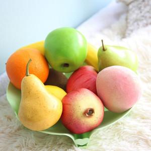 Vivid Artificial Obst Apfel Pfirsich Birne Banane Zitrone Gefälschte Fruit Shop Markt Decration Obst Hochzeit Obst Dekoration