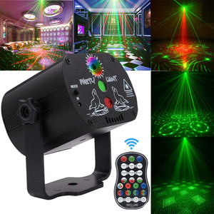 60 Padrões de LED RGB Disco Light 5V USB Recarregue Projector Laser RGB Lamp Stage Lighting Mostrar para o partido Home KTV DJ Dance Floor