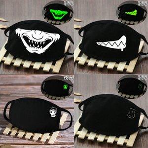 América assustador máscaras de banda desenhada brilham no rosto cheio escuro esqueleto mascarar América assustador hotclipper NiYPd
