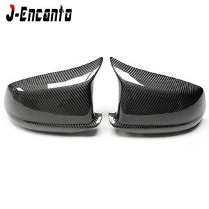 Para BMW Série 5 F10 F11 Sedan Carbon Fiber Espelho Caps 2010-2013 520i 528i 535i 518d Retrovisor tampa de carbono Gloss Black