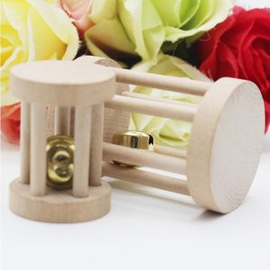 Natural Wood Pet Chew Toys Mini Hamsters Exercise Bell Roller Dumbells Teeth Care Molar Toy For Pet Rabbits Rat