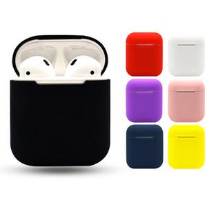 Silicone macio airpods fone de ouvido caixa protetora airpods capa protetora à prova de choque capa para fones de ouvido sem fio bluetooth