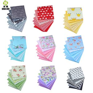 19x24cm High Quality 10 Style Charm Packs Patchwork Fabric Cotton Quilting Fabrics For Sewing DIY Handmade Cloth 7 Color set