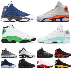 Nike Air Jordan Retro 13  hommes femmes chaussures de basket-ball aire de jeux Aurora vert CNY Atmosphere gris Flint JordanAirChaussures de sport chaussures de sport Atmosphere