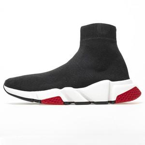 PK Speed Trainer Beste Socken Schuhe Damen Herren Designer Gelegenheits Schwarz Rot Oreo Speed Trainer Maxi-beiläufige weiße Stiefel Big Size