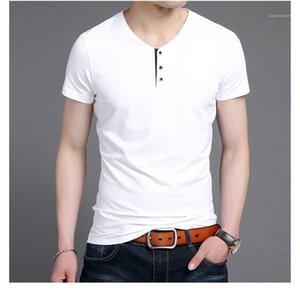 Urban Fashion Mens Clothing Summer Designer Mens Polos Solid Color Button decoration Short Sleeved Tops Tees