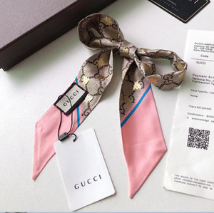 Marka Eşarp Moda Baskı Yumuşak Ipek Eşarp Kadınlar Marka Eşarp Başkanı Çanta Uzun Atkılar kadın Kravat accessoriesPattern Lüks markalar Tasarımcı