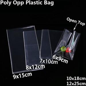 쿠키 캔디 장난감 쥬얼리 식품 포장 가방 크리스마스 생일 파티 DIY 주머니 폴리 OPP 선물 가방 C18112701에 대한 명확한 오픈 상단 비닐 봉투