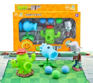 Plants Vs Zombies Action Figure Toys PVZ Peashooter Model Toys PVC Dolls With Retail Box Nice Gift For Boys Birthday