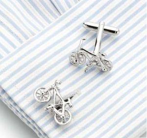 металлические Запонки Anniversary свадебной моды для мужчин Велосипед Спорт запонок Лазерная Гравировка