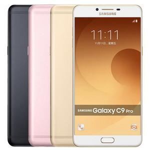 Yenilenmiş Orijinal Samsung Galaxy C9 Pro C9000 Çift SIM 6.0 inç Octa Çekirdek 6GB RAM 64GB ROM 16MP 4G LTE Android Cep Telefonu DHL 1pcs