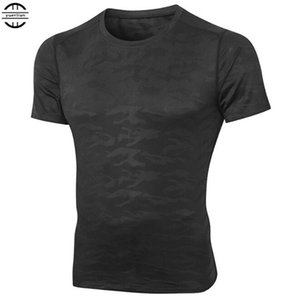 100p Men Pro Compression Underwear 3D Camo Tight T-shirt,Elastic Anti-Wrinkle Quick-dry Wicking Sport Fitness Short Sleeve Tops