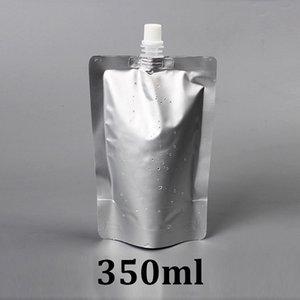 350ml Silber Lebensmittelqualität Stand Up Aluminiumfolie Retortenbeutel mit Auslauf