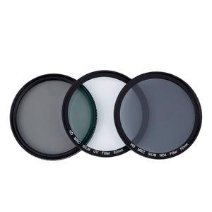 Freeshipping Professional CPL + ND4 + UV Filtro de Lente Da Câmera Super Slim Kit de Filtro de Lente de Fotografia De Densidade Neutra