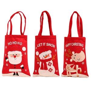 Sac de sucrerie bande dessinée de Noël Tote enfants Père Noël Bonhomme de neige Elk sac à main Porte-cadeaux Parti Sac Accueil Ornements