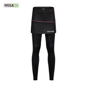 WOSAWE Велоспорт брюки дышащий Cooler Ткань велосипед одежда Велоспорт штаны Велосипед Женщина колготки с юбками весна осень