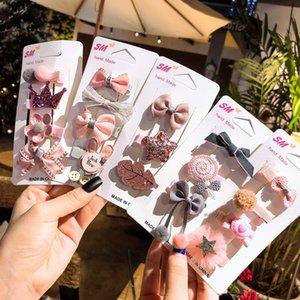 Mädchen-nette Blumen-Karikatur Tiere Bogen Haarnadel Pentagram Kinder reizender Haar-Clips Spangen Stirnband für Kinder Haarschmuck