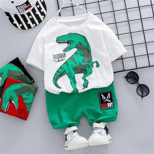 HYLKIDHUOSE Toddler Infant Clothing Summer Baby Boys Clothing Sets Short Sleeve Dinosaur T Shirt Shorts Children Kids Clothes