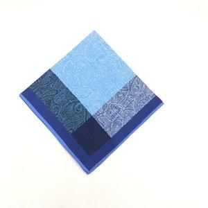 12pcs 43 Hombre de algodón Hombre Handkerchief TAC Handkerchief * 43cm Tic Tic Dark Stripe Toe WACQQ