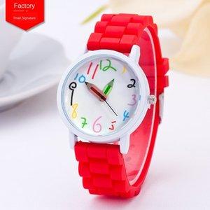 Silicone pencil paint White quartz Silica gel quartz watch case children's watch