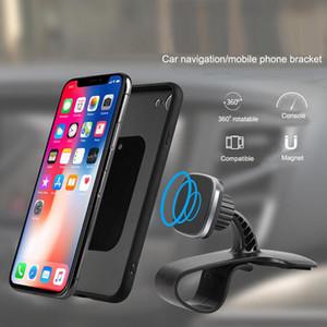 360 Derece Dönen araç telefonu tutucu Evrensel Araç Telefonu Tutucu Manyetik Standı GPS Klip Cradle Dashboard Telefon Dağı Standı GPS Tutucu