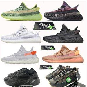 2020 v2 700 Kanye West Fanale posteriore inerzia statica tripla riflettente nero in esecuzione scarpe da ginnastica con le azione x Beluga oreos breds argilla