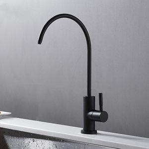 Water purifier Tap Europe style total brass Single Cold kitchen faucet swivel Black kitchen mixer tap,sink tap