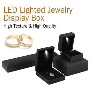 Contenitore per gioielli con cassa illuminata a LED Contenitore per gioielli con collana a forma di anello con orecchino a LED Contenitore per gioielli con cassa a LED illuminato CNY987