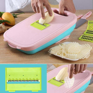 Folding tagliere Block Set di verdure Chopper staccabile scolo di piegatura carrello 9 in 1 bacino del dispersore di patate Grattugia con l'imballaggio al