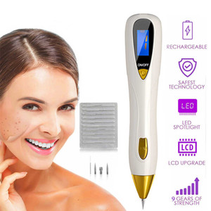 9 Ebenen LCD Display Laser Mole Sommersprossen Stift Warze Corns Dark Spot Remover Hautpflege Salon Schönheit Maschine