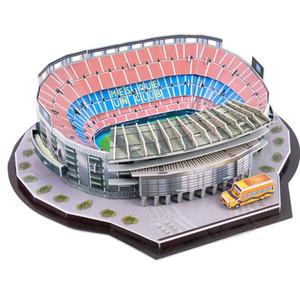 어린이 3D 경기장 축구 필드 모델 3 년 DIY 퍼즐 여러 가지 빛깔의 장난감