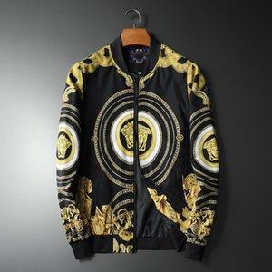diseñador de bordado chaqueta de la juventud de los nuevos ropa 2019 de otoño e invierno los hombres de los hombres europeos de pie chaqueta de los hombres de cuello FD