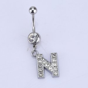 Rhinestones Beauty Women Charming Belly Ring Arts Alluring Comely New Alphabet Fascinating sexy Fair Belly Button