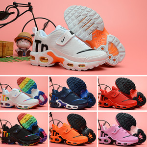 Nike Mercurial Air Max Plus Tn  남성 여성 아이 블랙 레드 화이트 TN 울트라 KPU 쿠션 표면 운동화 트레이너 신발 크기 28-35를 위해 신발을 실행 TN 2018 새로운 아이들
