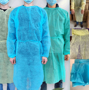 Non-Woven Protection Suit free size Disposable Protective Isolation Clothing For Home Outdoor Suit NonWoven Gown raincoats LJJK2359