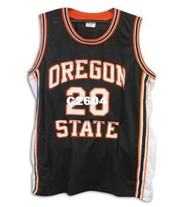 Erkekler Vintage # 20 Gary Payton Oregon State Kunduzlar kolej forması Boyutu S-4XL veya özel herhangi bir isim veya numara jersey