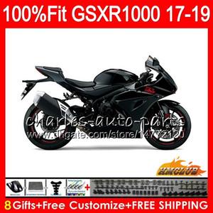 Iniezione per SUZUKI GSX R1000 GSX-R1000 nero lucido lucido GSXR 1000 17 18 19 17HC.19 L7 L8 GSXR-1000 K17 GSXR1000 2017 2018 2019 Kit carenatura
