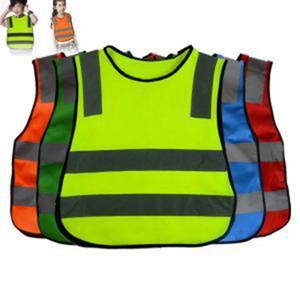 50pcs Crianças Reflective Vest 47 * 42 centímetros Crianças Alta Visibilidade Woking Segurança Vest Trânsito Rodoviário Trabalho colete verde Roupa de segurança refletivo