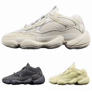 2019 Nova Super Lua Amarelo Tênis Kanye West Das Mulheres Dos Homens Sapatilha Sapatos de Esportes Runner Onda 500 Blush Deserto Rato 500 mulher casual sapatos
