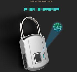 fingerprint padlock smart full-automatic Lock student luggage small-sized metal waterproof electronic locks fingerprints padlocks