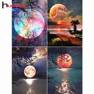 Diamond Painting Full Square Drill Moon Rhinestones Pictures Diamond Embroidery Sale Scenic Cross Stitch Mosaic Gift