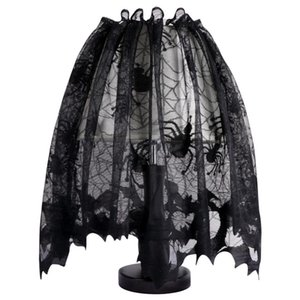 Хэллоуин украшения для дома наследие кружева абажур Топпер камин каминная полка шарф дверь занавес праздничные принадлежности для вечеринок