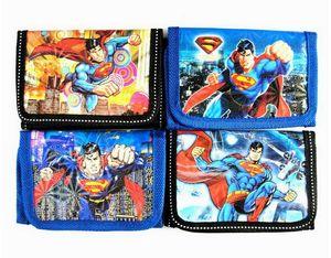 Hot 48pcs Hero series Superman Cartoon Purses Money Bag Coin Pouch Children Wallets Bags Party Favors Gift