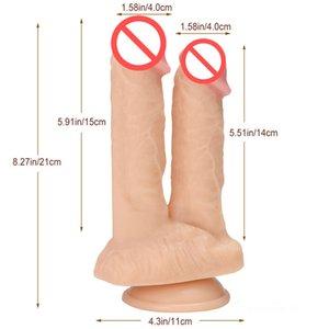 Стимулирующие игрушки Dildos Double Penis Dildos Женщины двойной фаллоимитаторные секс анус Дьецеффиозный влагалище эротические секс игрушки мастурбатор для SGAIT