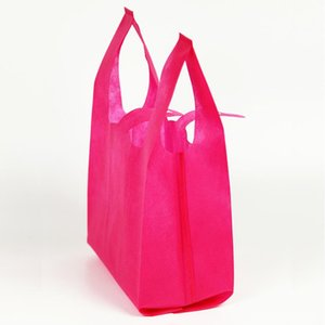 Reusable Shopping Bag Candy Color Non-Woven Fabric Bags Folding Shopping Bag For promotion Gift shoes Chrismas Grocery