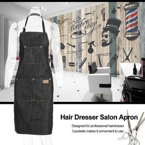 Cabeleireiro Salon Avental Cabeleireiro Cape Hair Cloth Corte Tingimento Capa Para Barbearia Preto Jean