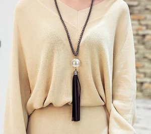 2020 Arrival Tassel Pendant Sweater Chain Long Beads Necklace For Women Girls Fashion Jewelry Gift