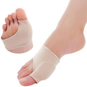 Joanete Pads Spandex Gel Almofadas estiramento de hálux valgo protector Toe pequeno / Tamanho Grande Nude Cor LX1993