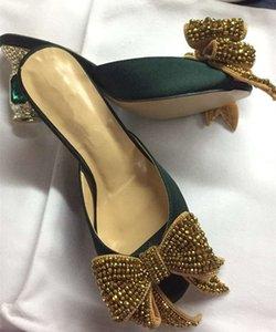 Высокое качество бренда дизайн бриллианты сандалии галстук-бабочка Chic женские открытые туфли на высоких каблуках сандалии обувь 2019 летние туфли на высоких каблуках BY611